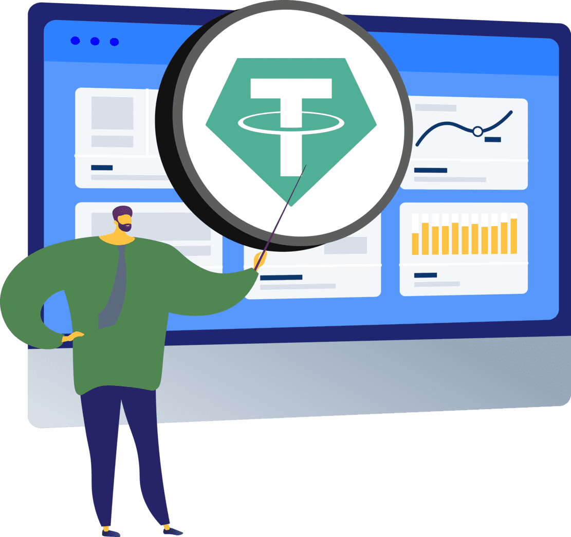 What is tether used for